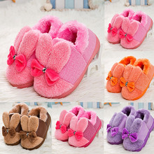 CHAMSGEND 2017 Toddler Boots Leater Bowknot Rubber Soft Sole Snow Boots Soft Crib Shoes Of Kids Drop Shipping Sep18