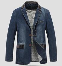 Neue Männer Blazer Jacke Casual Denim Blazer Männer Anzug Größe Kleidung Denim anzug M-4XL
