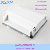 1 piece free shippping Din rail enclosure plastic box for electronic project plc industrial box 174x138x57 mm