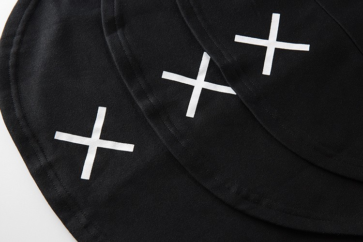 Cross Printed Hip Hop Sweatshirt Men 17Spring Streetwear Curved Hem Side Zipper Plain Mens Sweatshirts and Hoodies Man Clothes 44