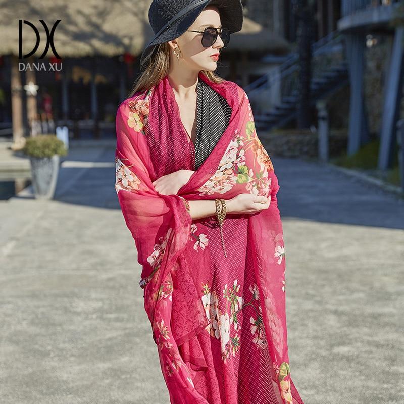 Hijab Women Chiffon Silk Scarves Brand Luxury New Sunscreen Scarf Beach Towel Gradients Wholesale Large Size