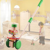 Wooden Baby Toddler Walker Toys Unicycle Outdoor