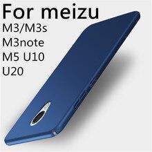 Telefone luxury case para meizu m3 m3s 360 m3note voltar tampa do telefone cheio proteger fina rígido pc para casos meizu u10 u20 telefone m5 saco