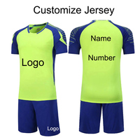 Customize Football Jersey Men S Short Sleeve Shirt Shorts Kits Adults Training Tracksuit Blank Soccer Jersey