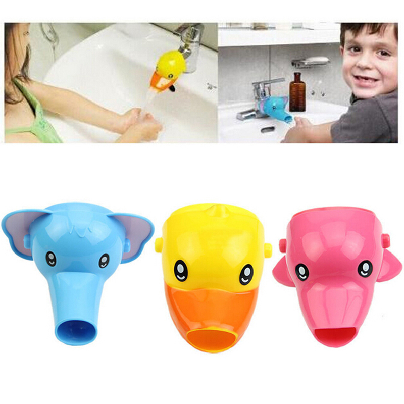 1pcs cartoon faucet extender for kid children kid hand washing in bathroom sink elephant dolphin duck bathroom accessories