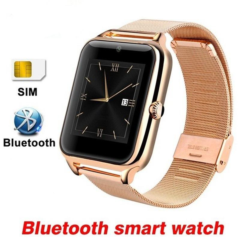 Bluetooth Smart Watch Gold Z60 Men Women Wrist Smartwatch Android Call 2G GSM SIM TF Card Camera Touch Screen Reloj Inteligente цены