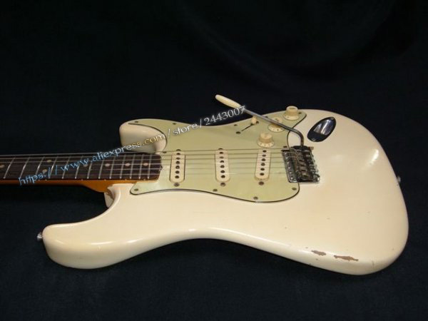 GC Custom Shop Musterbuilder 1963 Jimi Hendrix's Owned Heavy Aged L14985 Electric Guitar White gc custom shop musterbuilder 1963 jimi hendrix s owned heavy aged l14985 electric guitar white