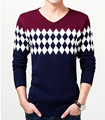 New men's sweater Slim male V-neck knit sweater men casual jumper fashion pullover men sweter hombre