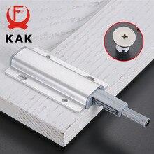 KAK 5 sztuk/partia stopu aluminium Push to Open zatrzaski do szafek odbojnik do drzwi magnetyczny dotykowy przystanek kuchnia niewidoczne uchwyty do szafek sprzętu