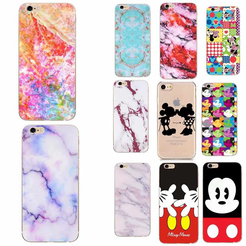 Para iphone xr funda de silicona suave Mickey impresión Coque funda de teléfono para apple iphone 5 5S SE 6 6 s 7 8 Plus XR XS Max caso