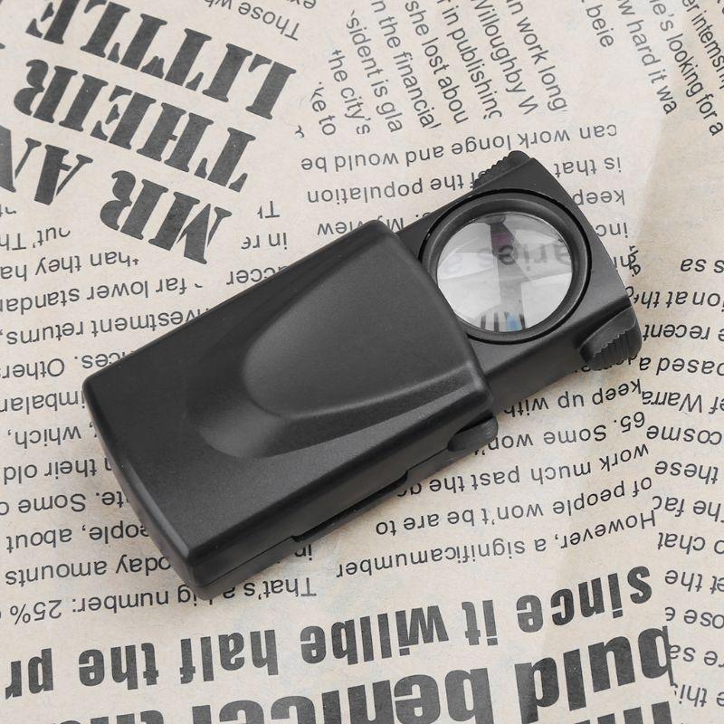 Free Postage 10X LED Folding Magnifier Mini Pocket Microscope Pull Type Jewelry Reading Loupe