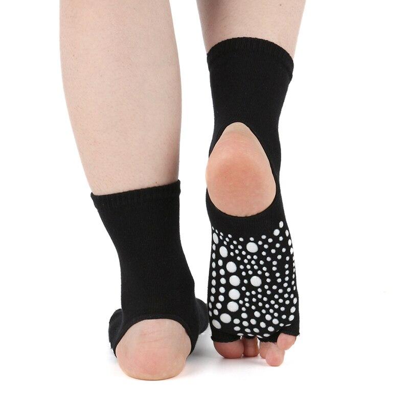 Non Slip Yoga Socks Cotton Pilates Exercise Gym Fitness Ankle Grip Sock Ballets