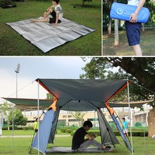 New 200*200cm/200*150cm Double-Sided Aluminum Foil Outdoor Camping Mat EVA Foam Waterproof Moisture Proof Picnic Pad For Tent