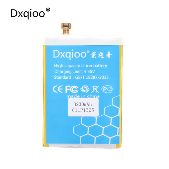 Dxqioo  mobile phone battery fit for asus zenfone 6  a600cg t00g a601cg z002  C11P1325 batteries