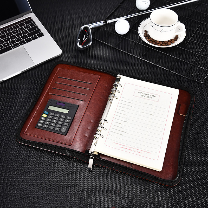 Zipper Business Loopbook Multifunctional Notebook Gift Box With Computing Notebook Manager ClipZipper Business Loopbook Multifunctional Notebook Gift Box With Computing Notebook Manager Clip