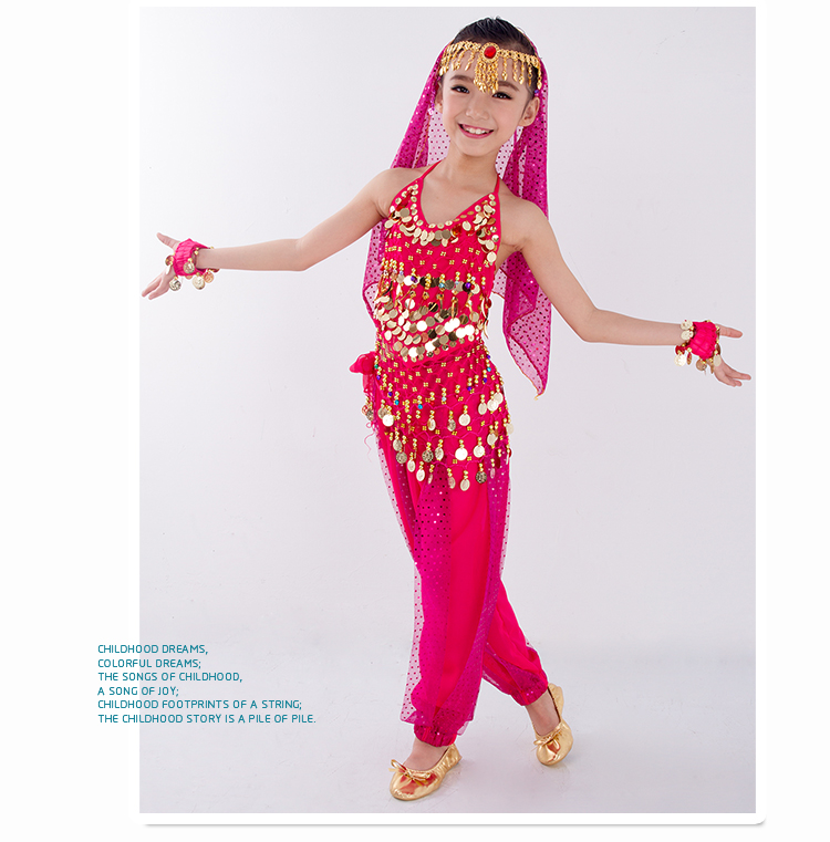 HTB1i9ZYboY1gK0jSZFMq6yWcVXa0 - Kids Belly Dance Costumes Set Oriental Dance Girls Belly Dancing India Belly Dance Clothes Bellydance Child Kids Indian 6 Colors