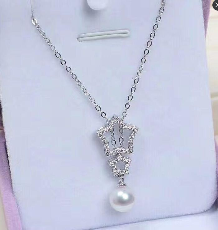 Collier pendentif perles FW blanches 11-12mm 925 argent