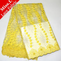 High Quality French Lace Fabrics 2017 Hot Sales Embroidered African Net Laces With Stones Beaded Nigerian
