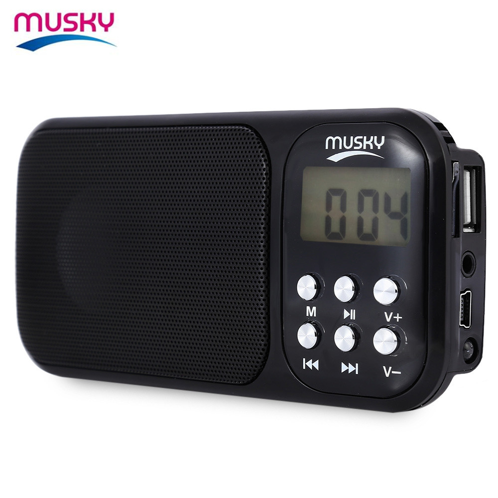 Musky HJ - 92 Portable Mini USB FM Radio Speaker