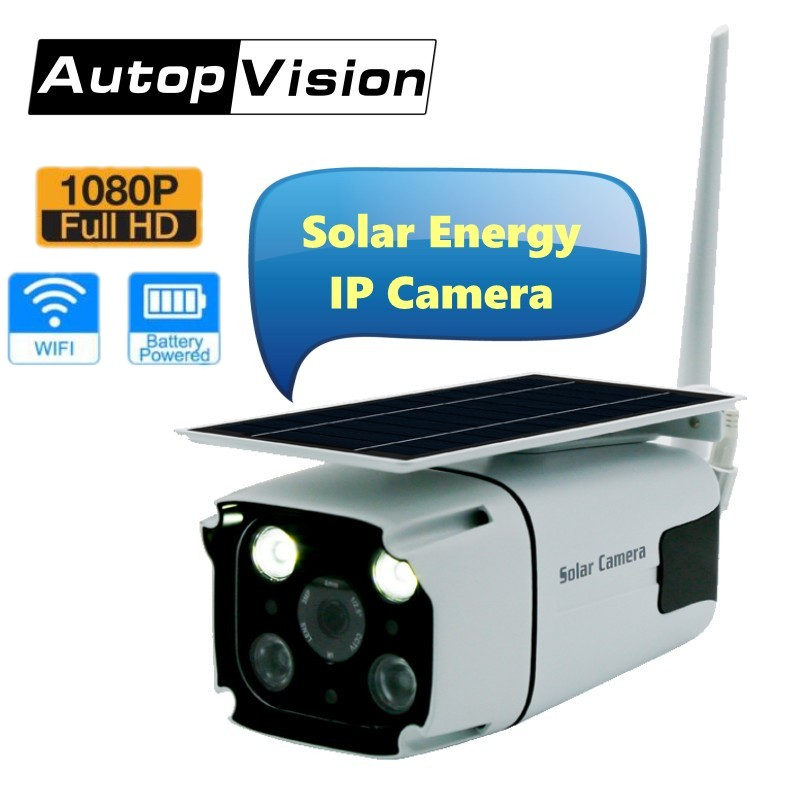 Newest Solar energy Bullet IP Camera 1080P Wireless Security WiFi Camera with Built in battery Motion