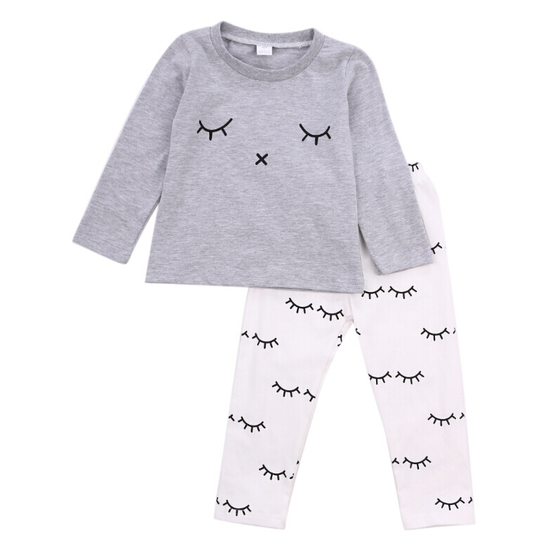High Quality Tops Pants Clothes Set Outfit Autumn Newborn Infant Baby Boys Girls T-Shirts Top Long Sleeve 2pcs newborn baby boys clothes set gold letter mamas boy outfit t shirt pants kids autumn long sleeve tops baby boy clothes set