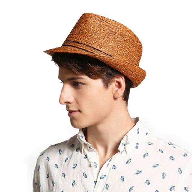 FS Homens Ráfia Palha Fedora Chapéu Panamá Para Mulheres Masculinos Do  Vintage Moda Verão Beach Sun Visor Cap Chapeau Cool Jazz trilby Caps ec0813d3d3f