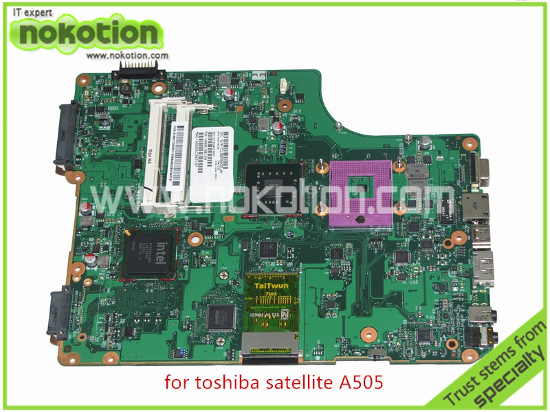 NOKOTION SPS V000198120 For toshiba satellite A500 A505 Motherboard Intel GM45 DDR2 6050A2323101-MB-A01 nokotion for toshiba satellite a100 a105 motherboard intel 945gm ddr2 without graphics slot sps v000068770 v000069110