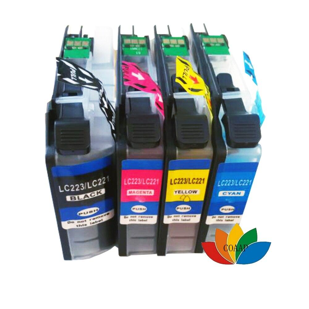 4pk novo compatível lc223 lc221 cartucho a jato de tinta para impressora irmão lc 223 mfc-j5720 dcp-4120w mfc-j4620 mfc-j5320 para europp