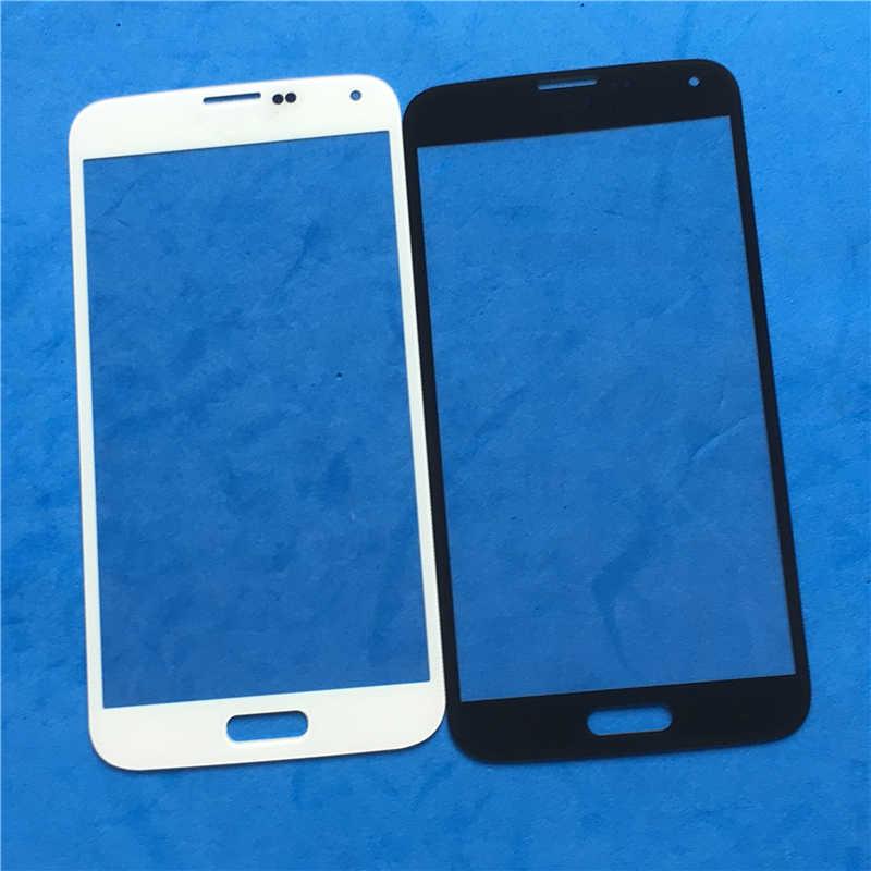 Depan Outer Layar Kaca Lensa Penggantian Layar Sentuh Untuk Samsung Galaxy S5 i9600 G900 G900F G900A G900M