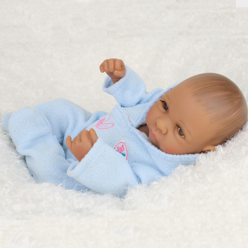 все цены на 28cm Ethnic Alive Dolls Silicone Newborn African American Baby Doll Black Boy Silicone Body Reborn Baby Dolls Birthday Gifts