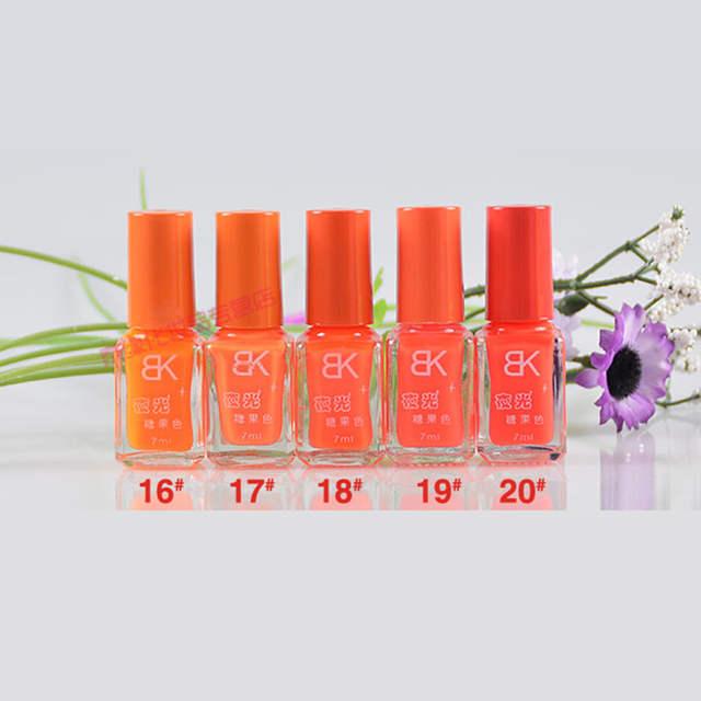 online shop bk colorful fluorescent nail polish luminous nail Enamel Pins bk colorful fluorescent nail polish luminous nail lacquer pure sweet colors neon enamel paint glow in