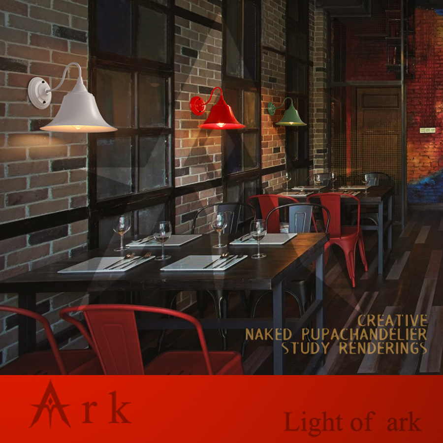 ARK LIGHT Loft Vintage Metal Wall Lamp Colorful America Countryside Edison Wall Lights Retro Antique Lighting Fixtures