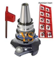 New M16 BT30 FMB27 45mm+SE-KM-45 degree KM12-80-27-5T face mill cutter and 10pcs SEKT1204 aluminium carbide inserts