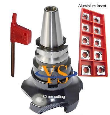 New M16 BT30 FMB27 45mm holder + SE-KM-45 degree KM12 80-27-5T face mill cutter + 10pcs SEKT1204 aluminium carbide inserts цена