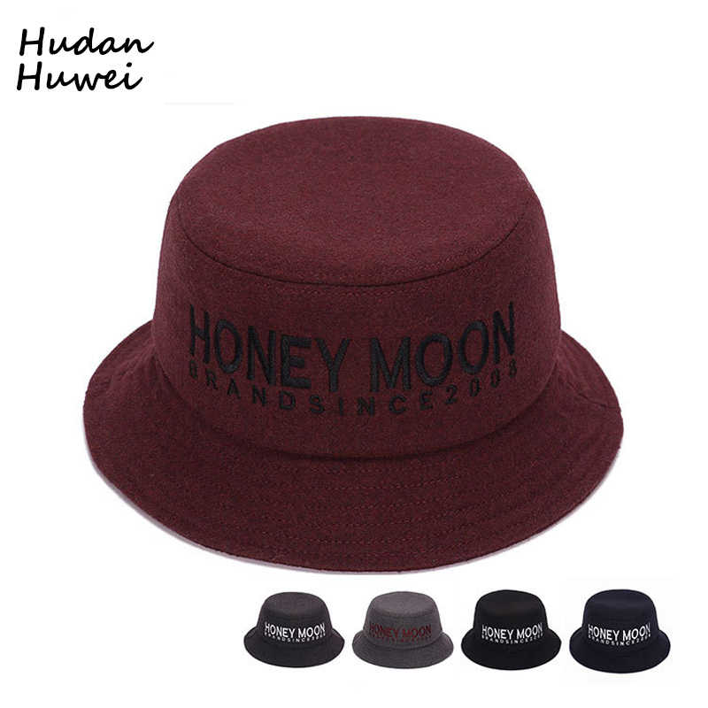bd09d86d97d98 Autumn Winter Men Women Bucket Hats Fashion Felt Trilby bowler hat derby  Portable Fisherman s Hat chapeau