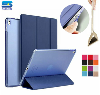 SUREHIN Good TPU silicone soft edge cover for apple iPad 4 3 2 case Leather sleeve kids thin transparent smart cover case skin image
