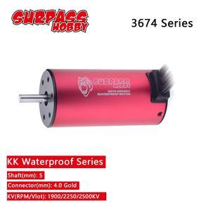 SURPASS HOBBY KK Waterproof 3674 5.0mm Brushless Motor 1900KV 2250KV 2500KV for RC 1/10 1/8 Drift Racing Off-road Car(China)