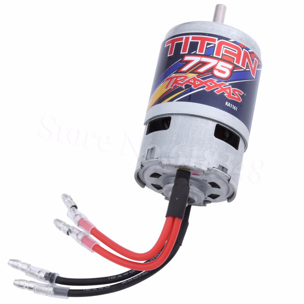 Traxxas 5675 Titan 775 Motor 10-Turn 10T 16.8 Volts For Summit 1/10 Scale 4WD Electric Extreme Terrain Monster Truck Spare Parts недорого