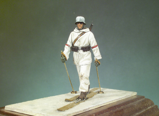 Assembly Unpainted  Scale 1/32 54mm GK Ski Rifleman  54mm  Historical Toy Resin Model Miniature Kit