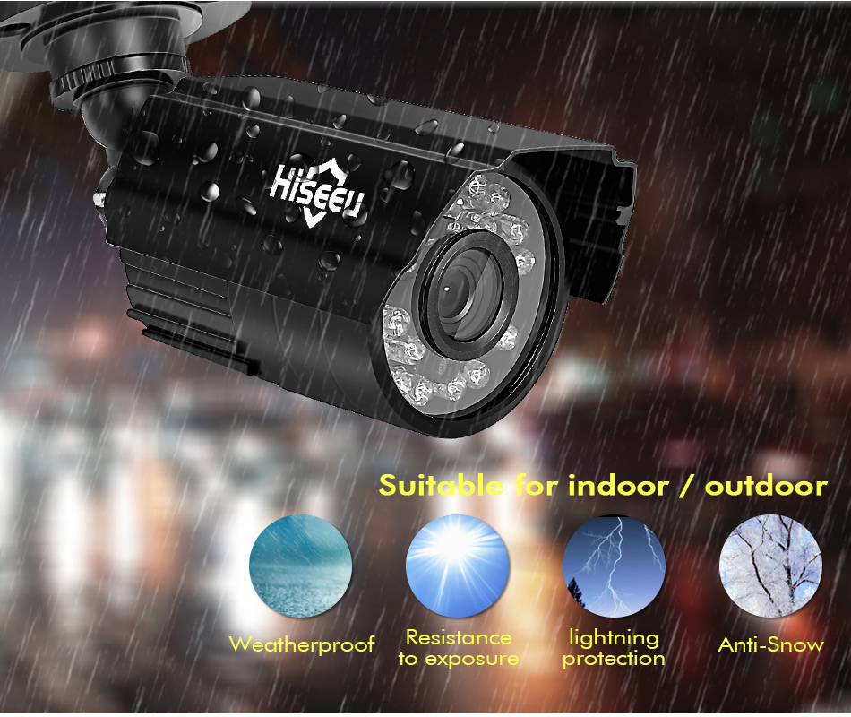 HTB1i9aoXzzuK1RjSspeq6ziHVXaT Hiseeu Home Security Cameras System Video Surveillance Kit CCTV 4CH 720P 4PCS Outdoor AHD Security Camera System