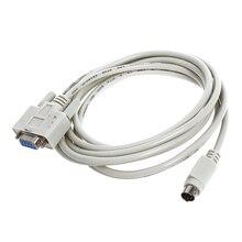 DB9P para 8 p Mini Din RS232 Download Cabo Branco 8.2 Ft para PLC DVP-EH Transporte da gota