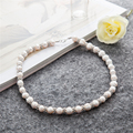 New Arrival Natural Pearl Jewellery Silver Chain Big Pearl Necklace For Women Pendant Necklace Female Wedding Jewelry Gifts