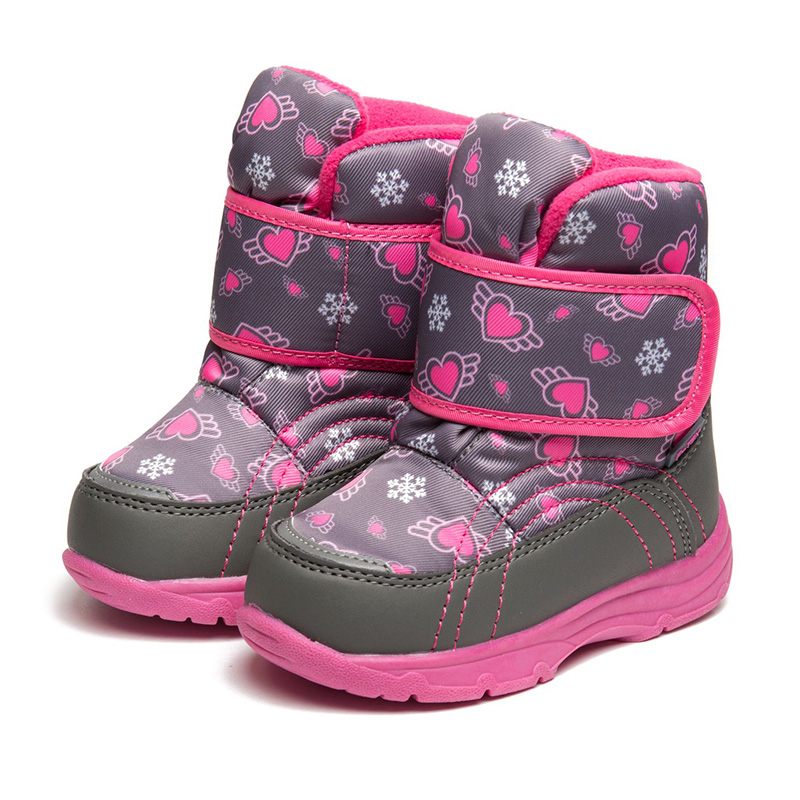 FLAMINGO Waterproof Warm Winter Fashion Snow Boots with Wool High Quality Anti-slip Size 22-27 Kids Shoes for Girl 72M-QK-0428 flamingo 2017 new collection winter fashion snow boots with wool high quality anti slip kids shoes for girl 72m yc 0430 0431
