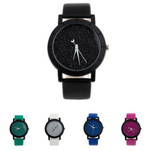 Womens Mens Quartz Wristwatches Star Minimalist Fashion Design Stylish Watches For Lovers PU Leather Strap Watch