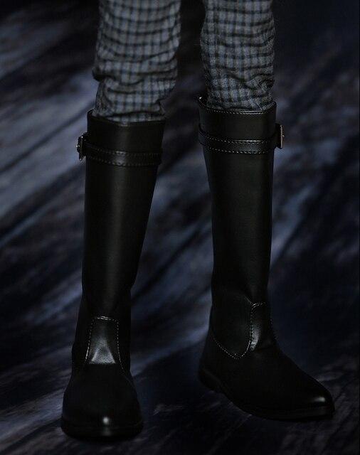 Ekstra boyutu 70 CM 1/3 erkek çocuk SD AOD KÖPEK BJD bebek Sentetik Deri PU çizmeler Ayakkabı siyah ayakkabı YG323