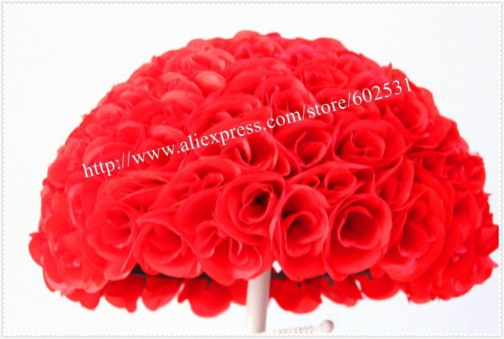 SPR Tloušťka 4X 40cm líbání rudé růže květinový míč - Pro svátky a večírky