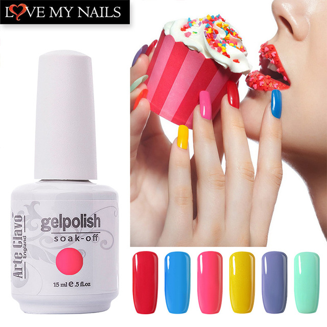 Arte Clavo 90 Colors Nail Gel Polish Gel Lacquer manicures Gel Nail ...
