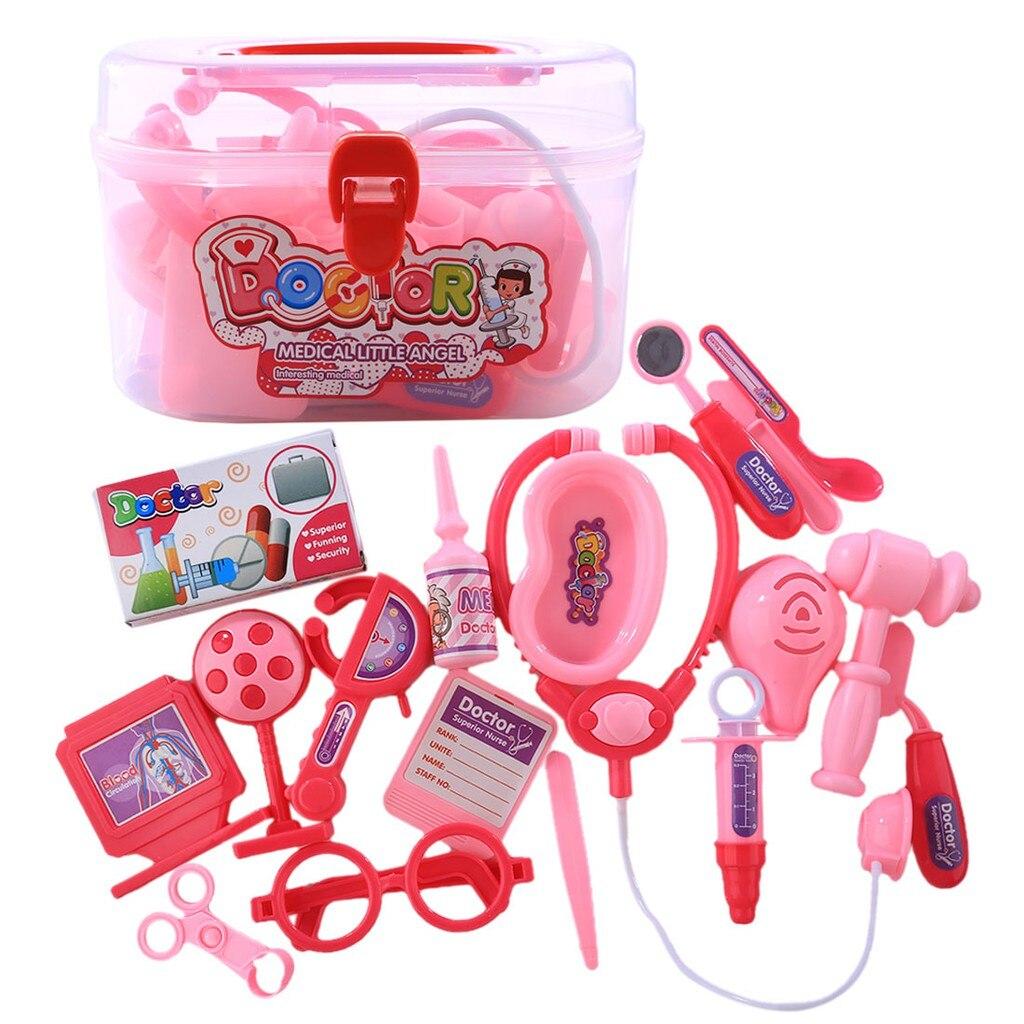 20Pcs/Set Children Pretend Play Doctor Nurse Toy Set Portable Suitcase Medical Kit Kids Educational Role Play Classic Toys