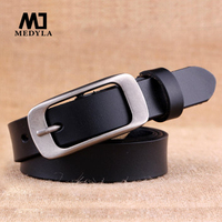 Women New Arrival Gold Japanese Word Buckle Thin Section Belt Women S Genuine Leather Strap
