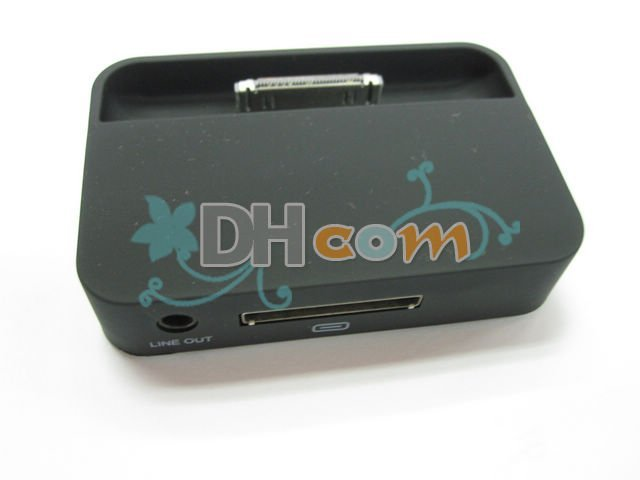 Free shipping black dock for iphone 4G, ship by DHL ,high quality new charger